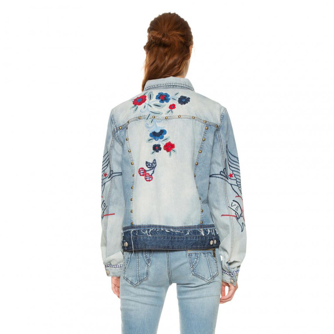 f2e1aca54 Veste en jean femme Desigual - Bleu | 3 SUISSES