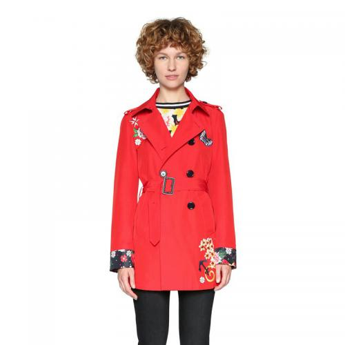 Desigual - Trench broderies femme Desigual - Rouge - Manteau