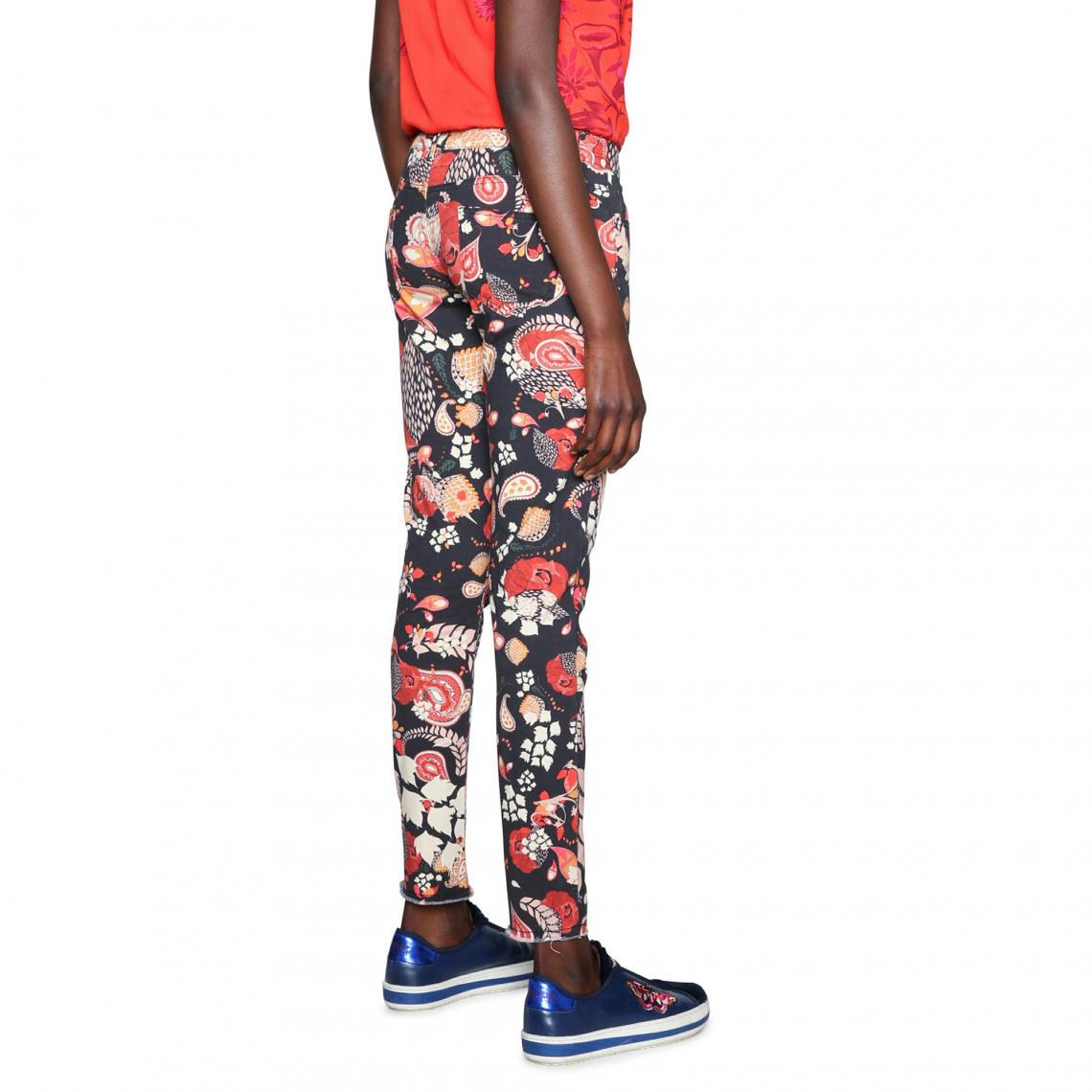 0308527b15a Pantalon slim femme Desigual - Noir