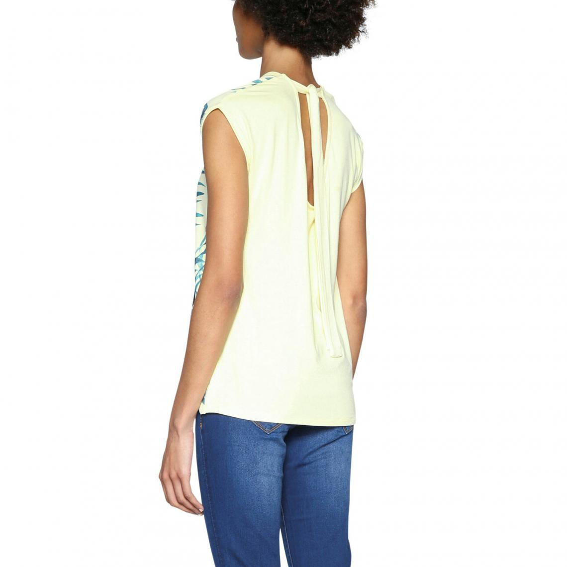 Femme Tee Shirt Jaune3 Manches Desigual Courtes Suisses 2EDYHW9I