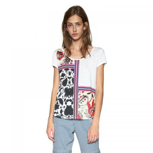 b8331fef3162a Desigual - Tee-shirt manches courtes femme Desigual - Blanc - Desigual