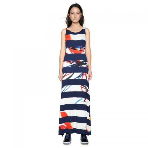 Desigual - Robe longue femme Desigual - Bleu - Desigual 0fe76684ea6c