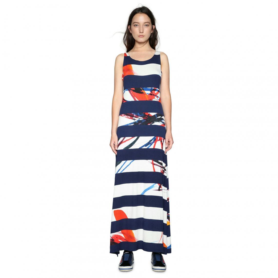 Robe longue femme Desigual - Bleu Desigual Femme a711c7f69e6e