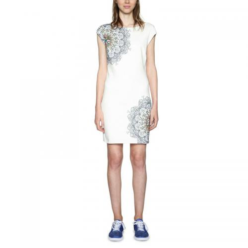 d4e9e0bd42448 Desigual - Robe courte imprimée femme Desigual - Blanc - Robe desigual