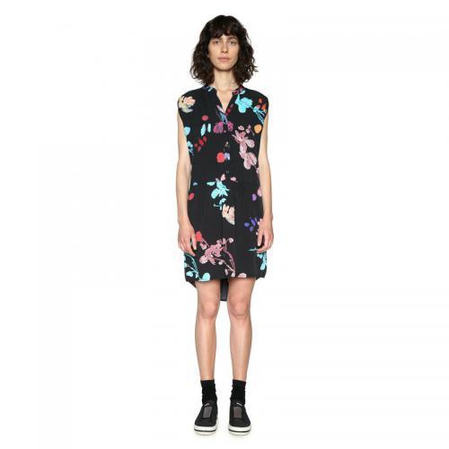 Desigual - Robe courte sans manches femme Desigual - Noir - Desigual 720f4ac42fcc