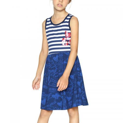 03934f68727a4 Desigual - Robe courte fille Desigual - Bleu - Desigual