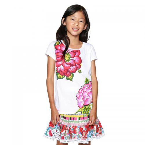 Desigual - Tee-shirt manches courtes fille Desigual - Blanc - Soldes