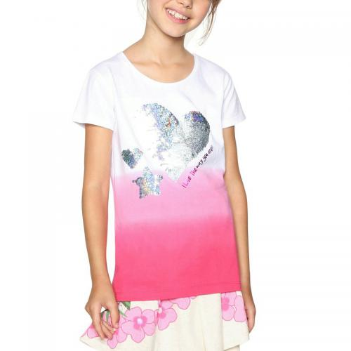 Desigual - Tee-shirt manches courtes fille Desigual - Rose - Soldes
