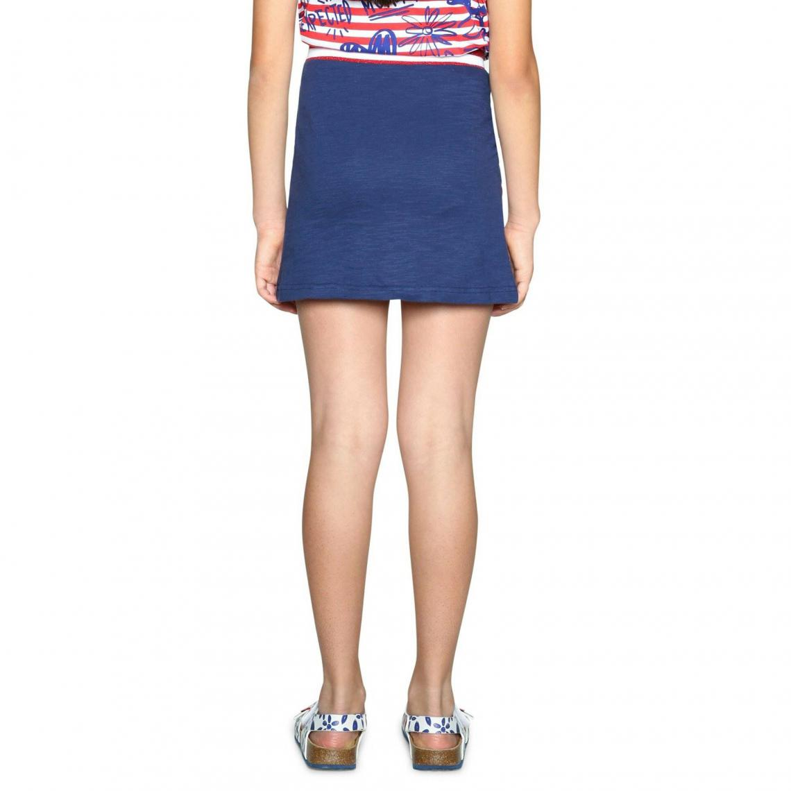 Jupe courte sequins fille Desigual - Bleu Marine   3Suisses e5584877ee15