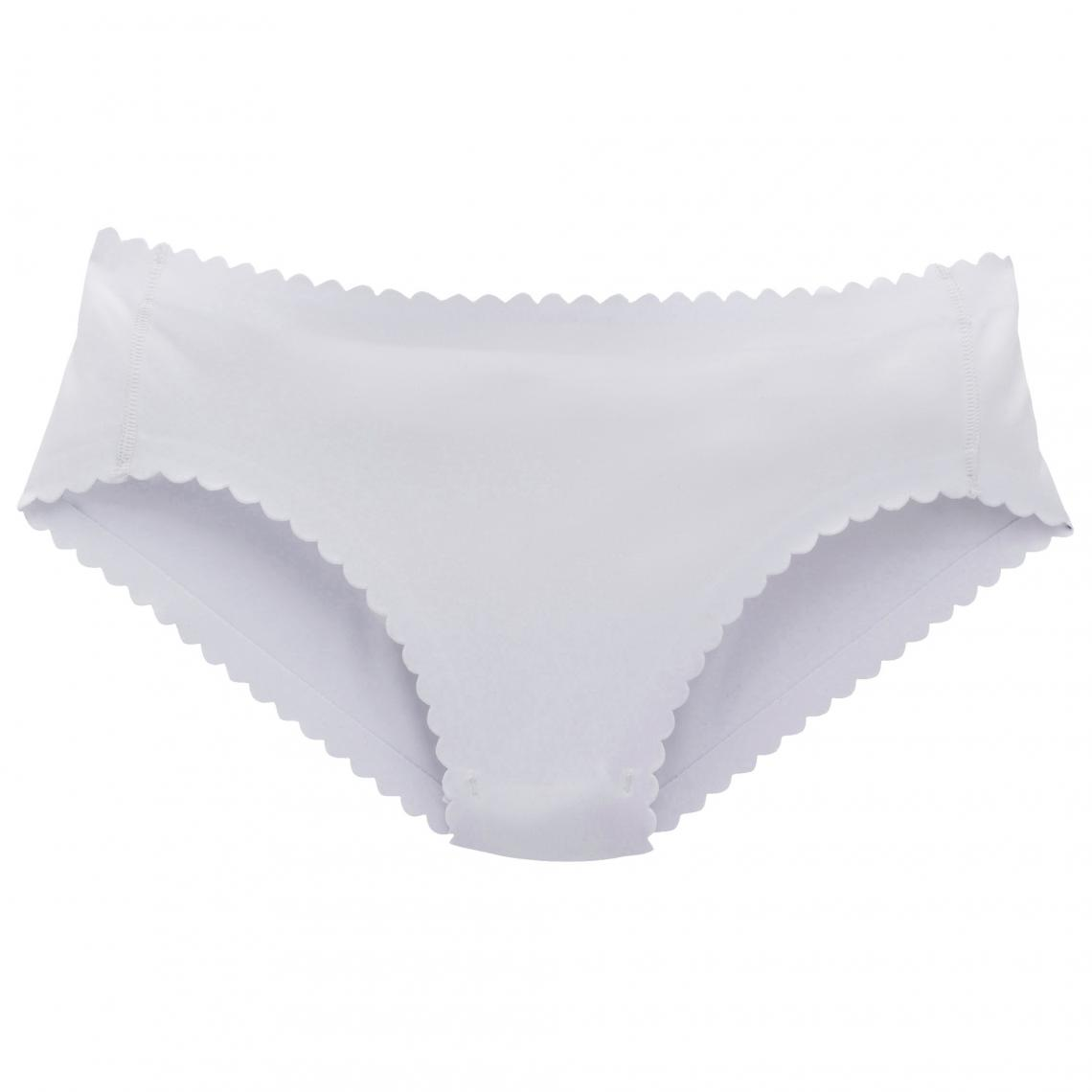 8c81ba8bd1d3a Slip en microfibre unie, sans couture, femme Body Touch de Dim - Blanc