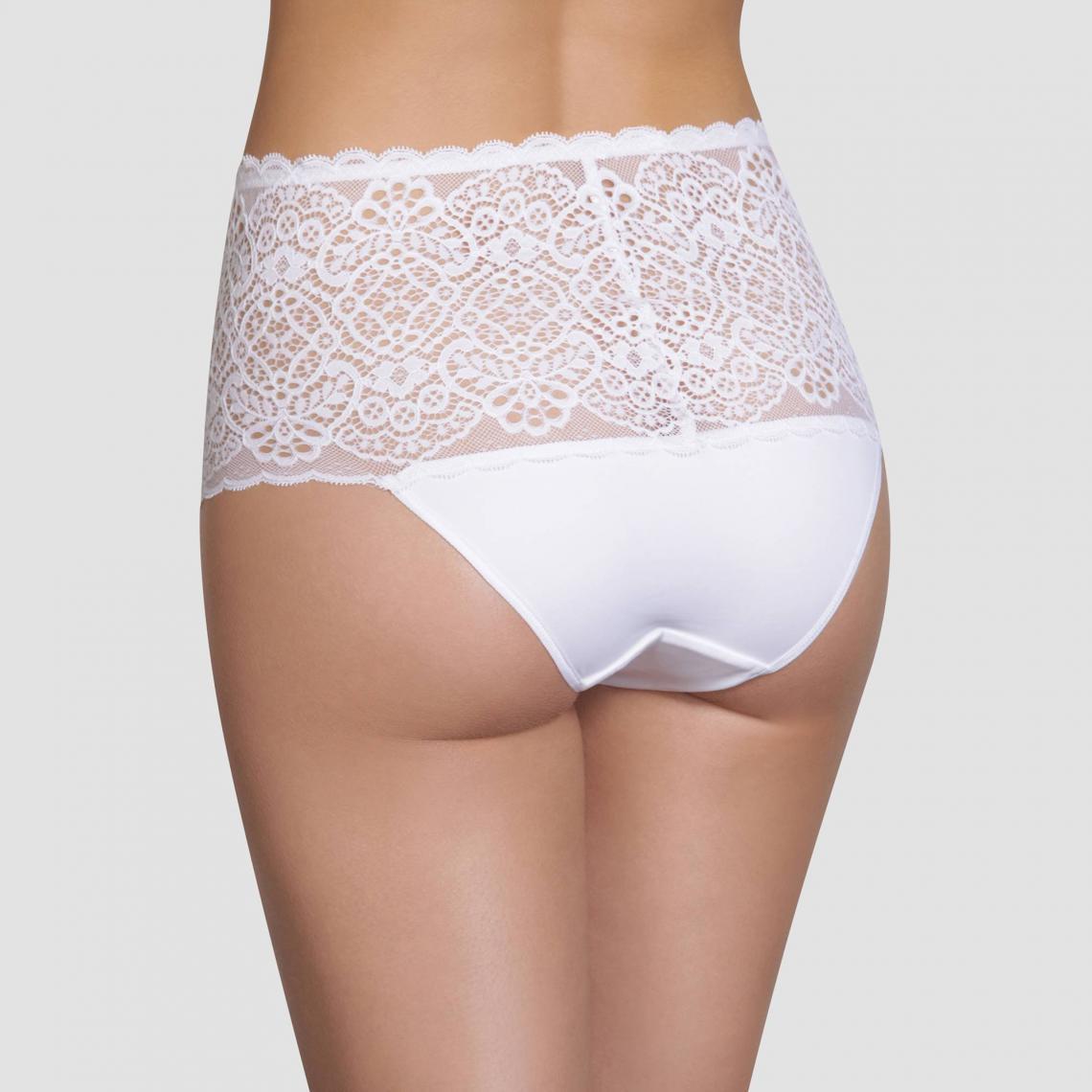 Slip taille haute femme Sublim Dentelle Dim - Blanc  3fb527aee68