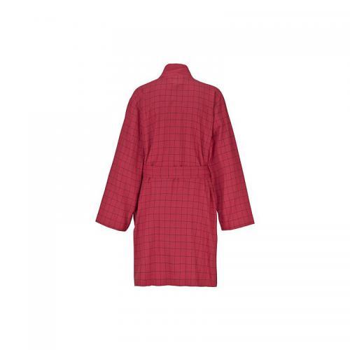 f72c770c27886 Peig de bain kimono à carreaux en éponge femme Ecorepublic Home - Rouge