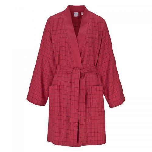 dd30cfcfeb8f7 Ecorepublic - Peig de bain kimono à carreaux en éponge femme Ecorepublic  Home - Rouge -