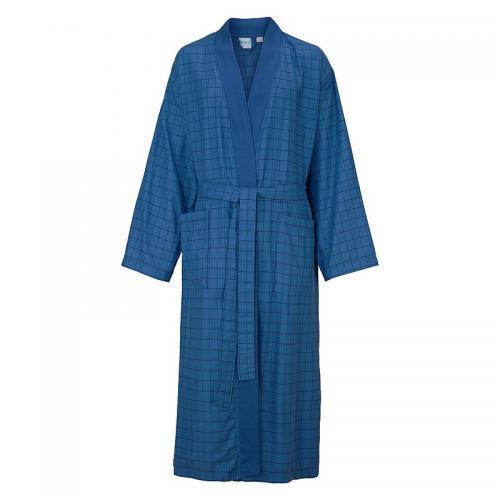 bf401a3bf1 Ecorepublic - Peig de bain long à carreaux col kimono en éponge homme  Ecorepublic Home -
