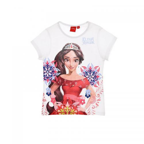 Elena d'Avalor - Tee-shirt manches courtes fille Elena d'Avalor - Blanc - Vêtements fille