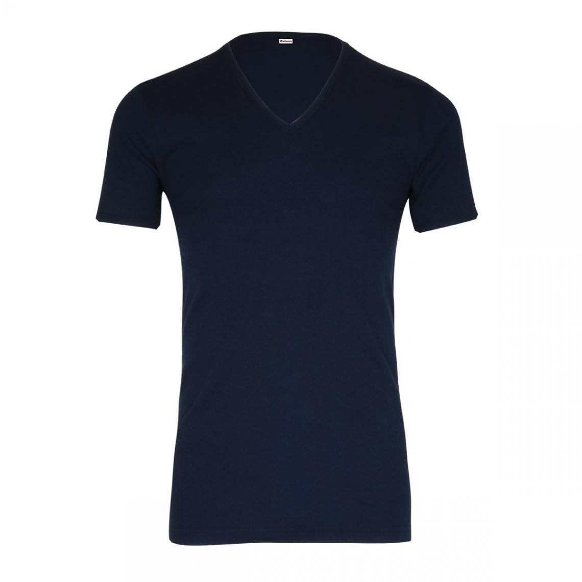 2b2c7c6e2a1 Lot de 2 T-shirts col V coton homme Éminence - Bleu Marine