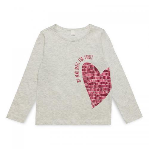 ed52a37482450 Esprit - Tee-shirt manches longues fille Esprit - Rose Bonbon - T-shirt