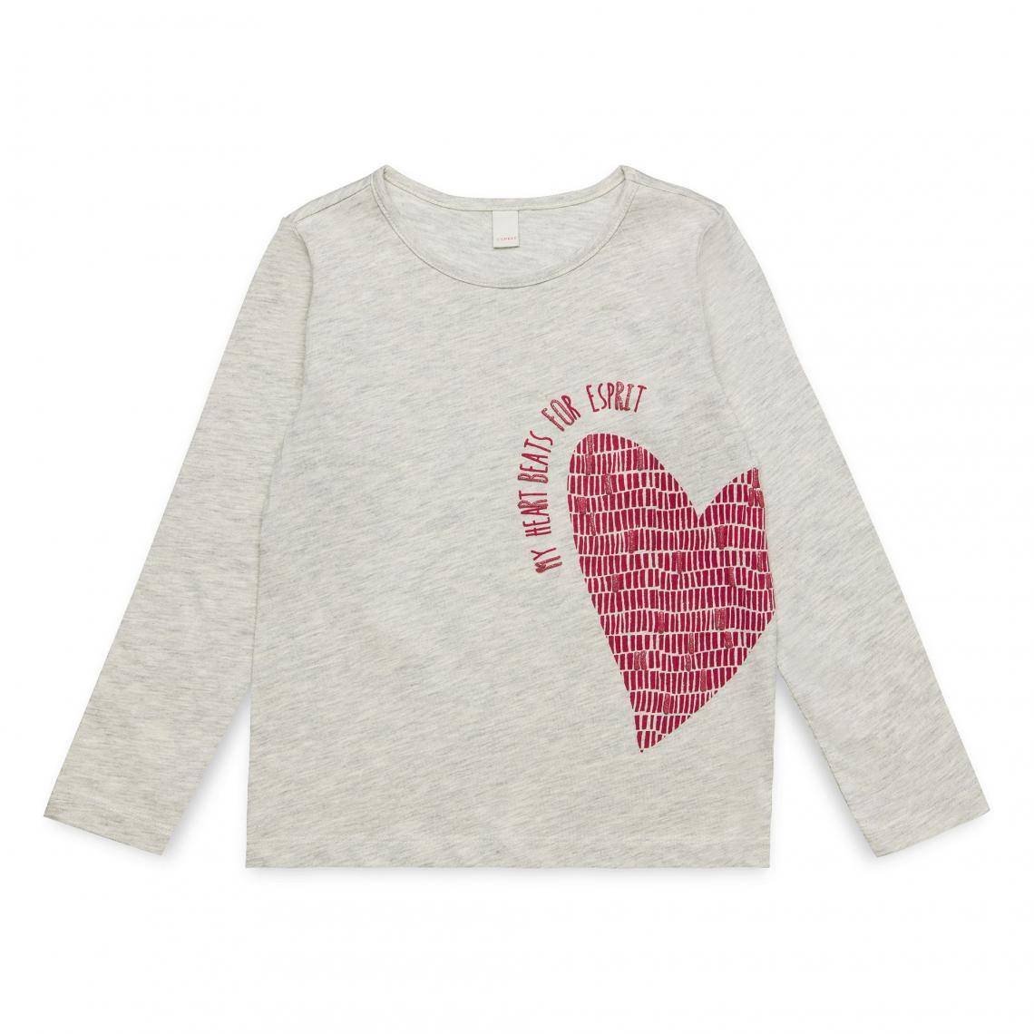 dd67e30c5c0df Tee-shirt manches longues fille Esprit - Rose Bonbon Esprit Enfant