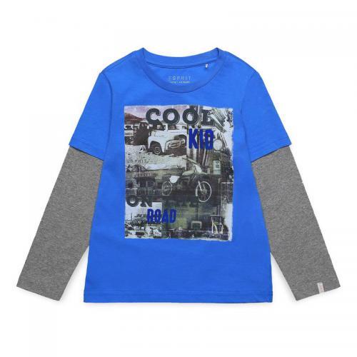 564bcf1ad8006 Esprit - Tee-shirt manches longues garçon Esprit - Bleu - T-shirt