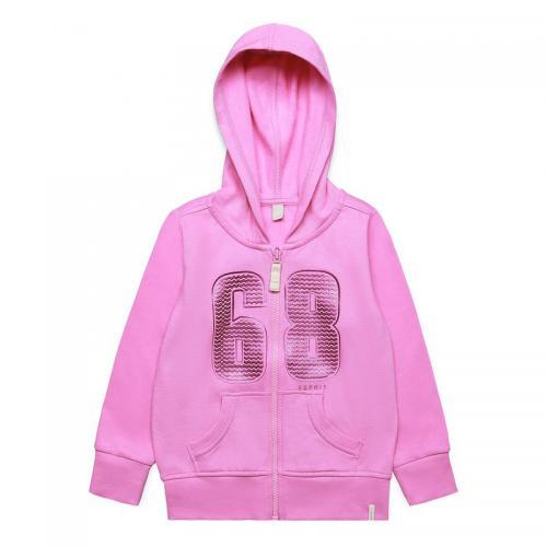 Esprit - Sweat-shirt zippé à capuche fille Esprit - Rose Camélia - Sweats  fille d163836ff932