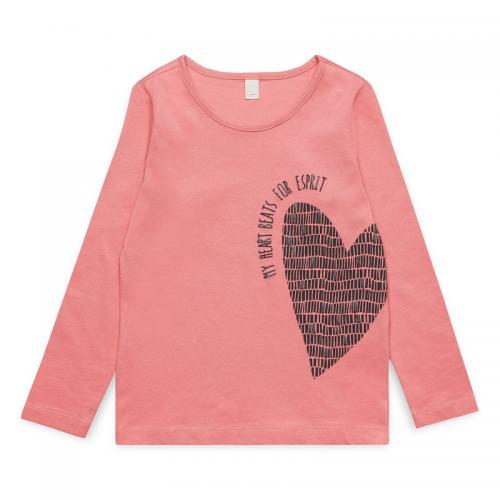 0755dcebfb882 Esprit - Tee-shirt manches longues fille Esprit - Vieux Rose - T-shirt