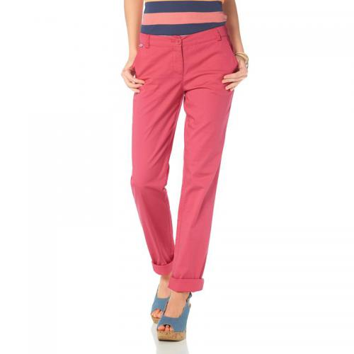 Flashlights - Pantalon chino en coton stretch femme Flashlights - Rouge - Promos Femme