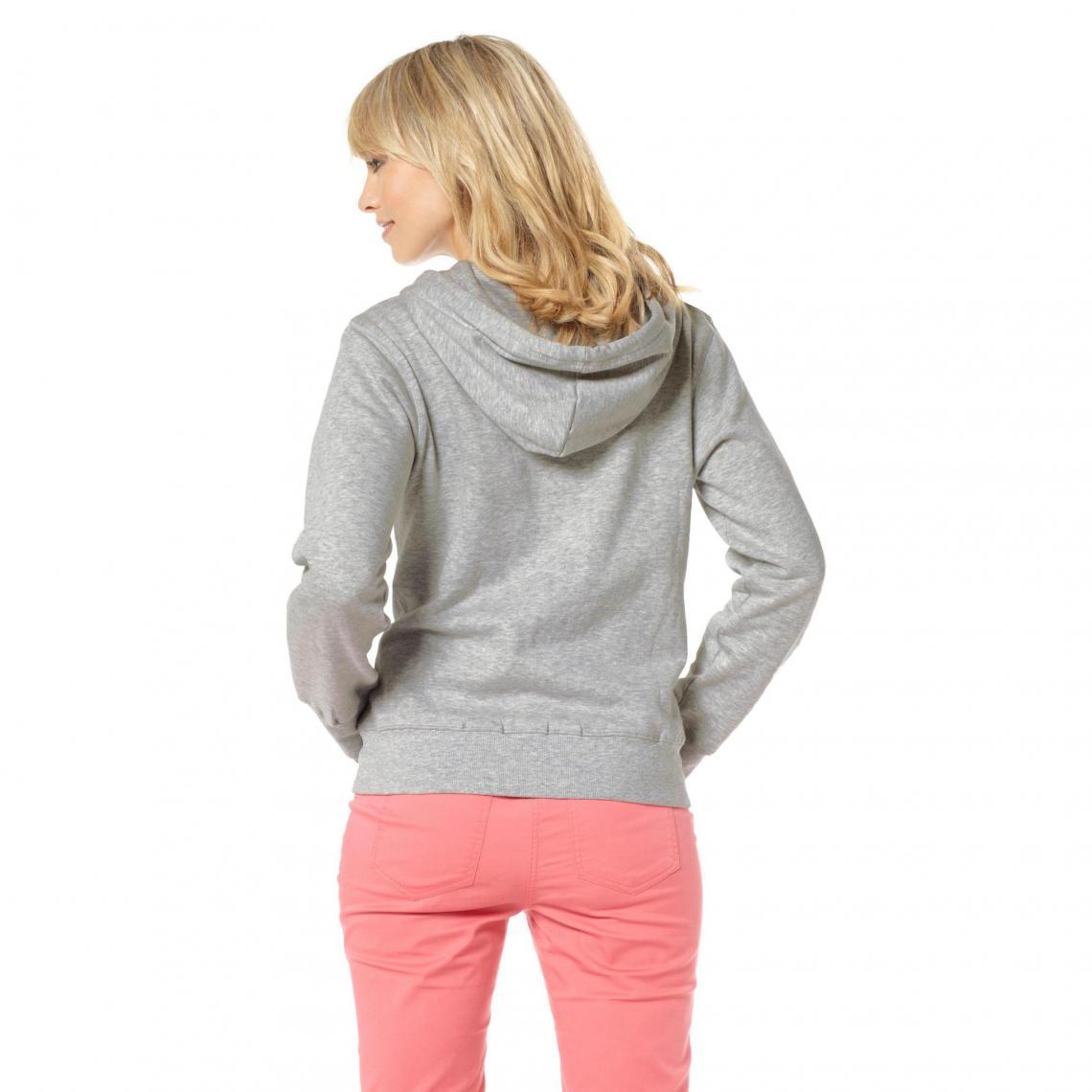 Nouveaux produits 89128 2b35c Sweat-shirt à capuche femme Flashlights - Gris   3 SUISSES