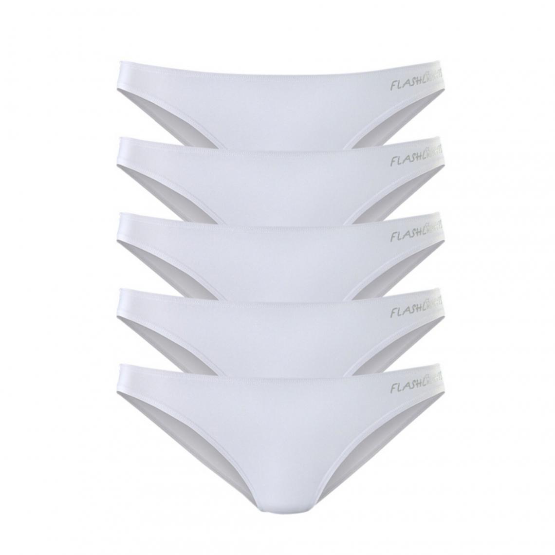 Lot de 5 slips femme Flashlights - Blanc  142900b4cff