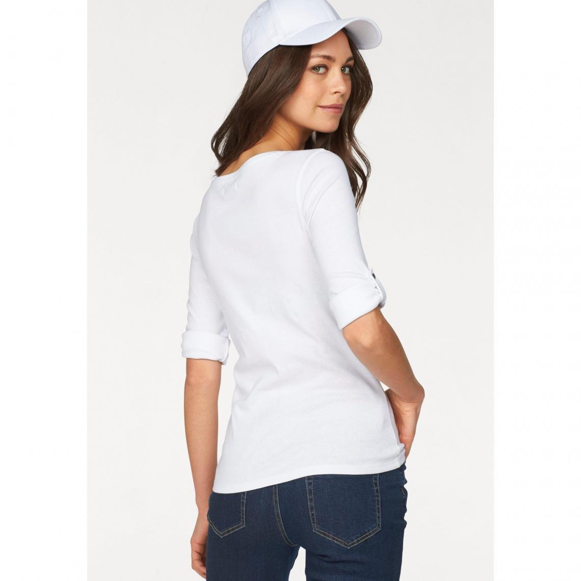 2a44a9238efb0 T-shirts manches courtes femme Flashlights Cliquez l image pour l agrandir.  Lot de 2 t-shirts uni + imprimé femme Flashlights - Blanc - Gris Chiné