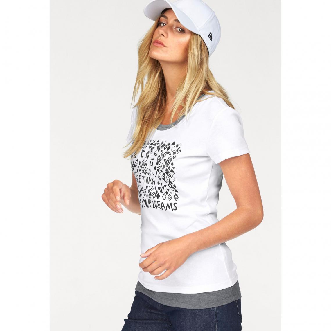02aea68537030 Lot tee-shirt imprimé et débardeur femme FLG - Blanc - Gris Chiné  Flashlights Femme