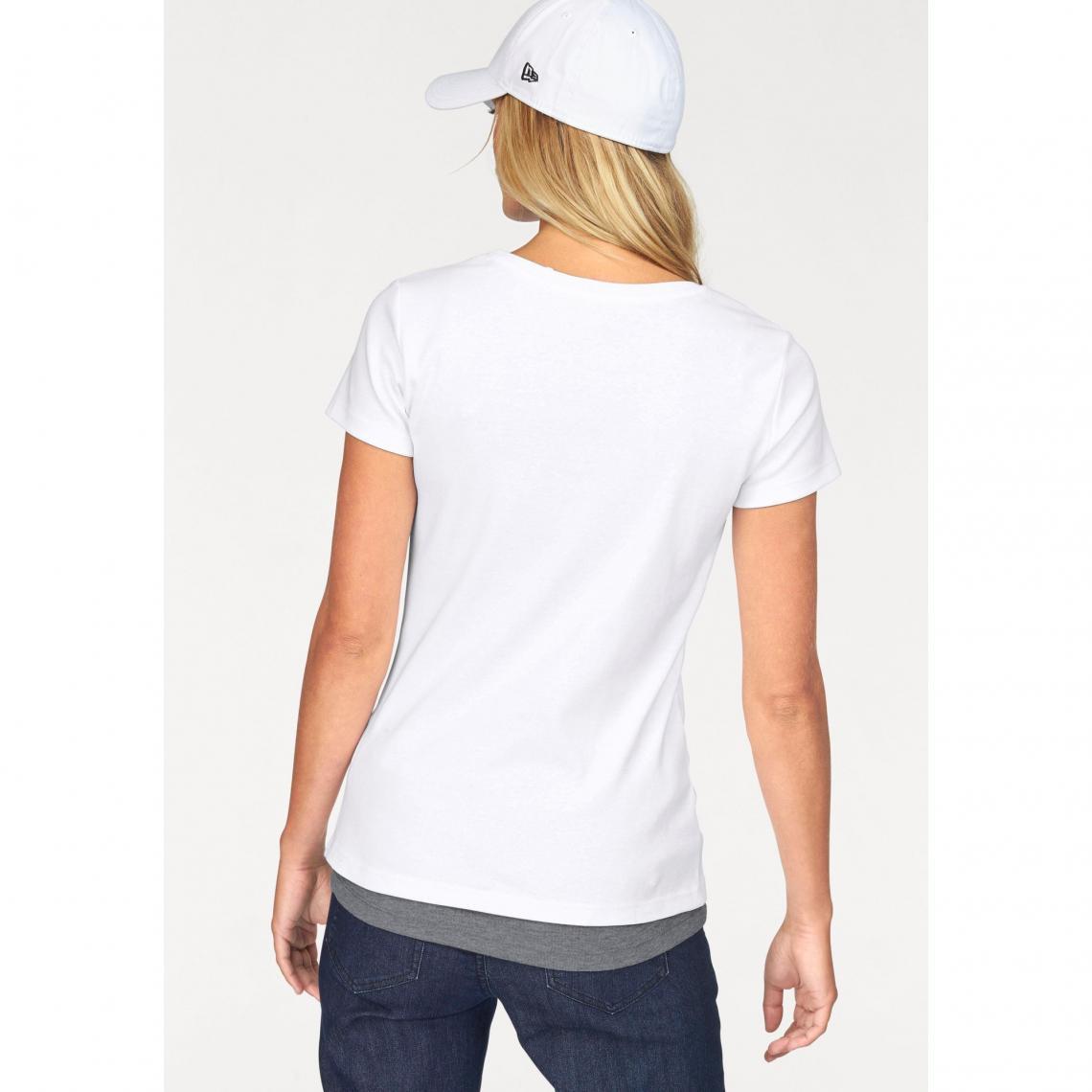 c14009a50e661 Lot tee-shirt imprimé et débardeur femme FLG - Blanc - Gris Chiné ...