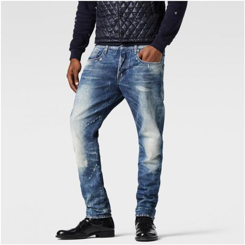 G-Star RAW - Jean G-Star Raw 3301 Tapered coton homme longueur US34 - Bleu - Toutes les Promos