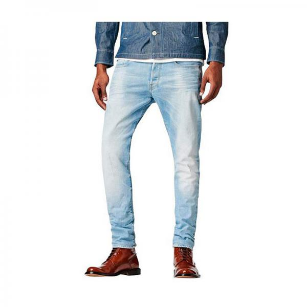 Jean G-Star Raw 3301 Tapered coton homme longueur US34 - Bleu G-Star RAW Homme