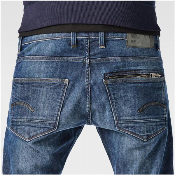 Jean droit taille basse G-Star Attac Straight usé homme - Bleu G-Star RAW
