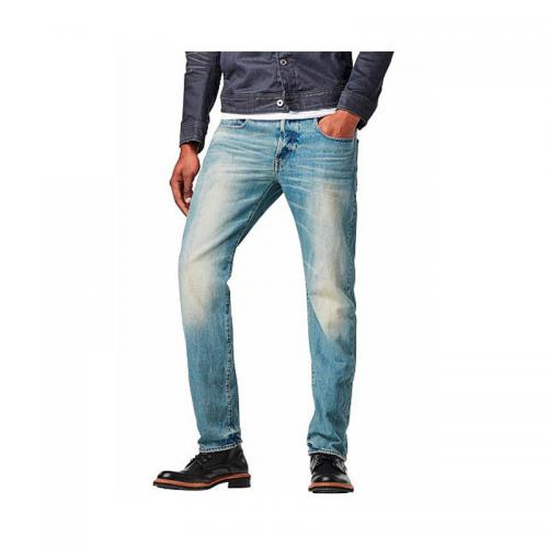 G-Star RAW - Jean droit taille basse G-Star Attac Straight usé homme - Multicolore - Promos vêtements homme