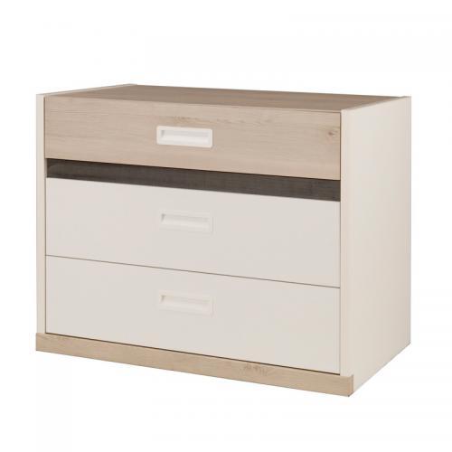 Gami - Commode 3 tiroirs Tiago Gami - Décor pin blanchi   blanc - Commodes  et 33890f9524f7