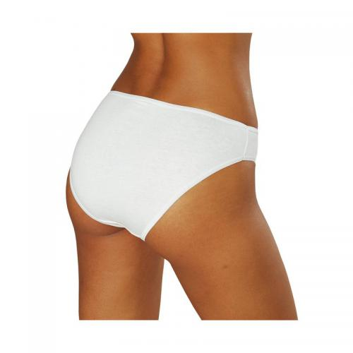 Go In - Lot de 10 slips en coton stretch femme Go In - Blanc - Promotions Sous-vêtements femme