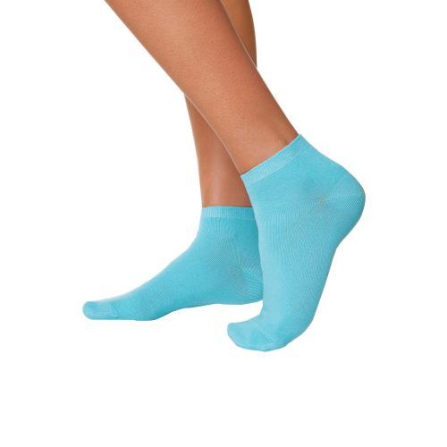 b9e1403789c Go In - Lot de 8 Paire de Socquettes femme Go In - Bleu - Chaussettes
