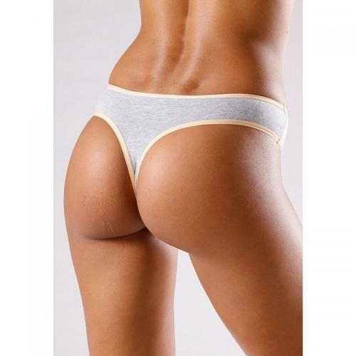 Go In - Lot de 10 strings cotonstretch femme Go In - Blanc - Promotions Sous-vêtements femme