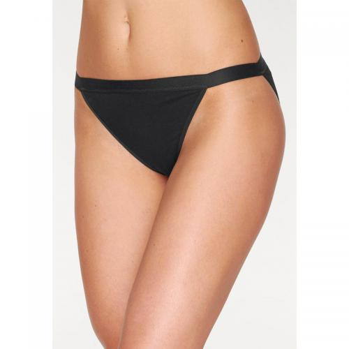 Go In - Lot de 10 slips Tanga GO IN femme - Noir - Tangas, strings