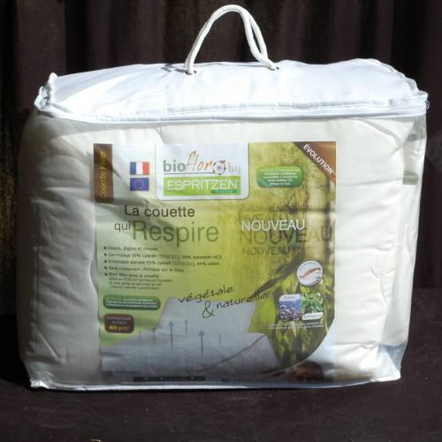 Greenbed - Couette synthétique 350 gm² BioFlor GREENBED enveloppe en percale - Blanc - Couettes