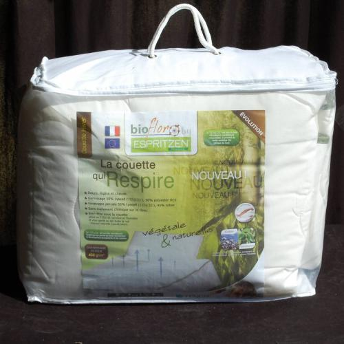 Greenbed - Pack couette 350 gm² + 1 ou 2 oreillers 50 x 70 cm synthétiques BioFlor GREENBED - Blanc - Equipement du lit