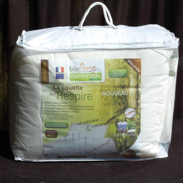 Pack couette 350 gm² + 1 ou 2 oreillers 50 x 70 cm synthétiques BioFlor GREENBED - Blanc Greenbed Literie