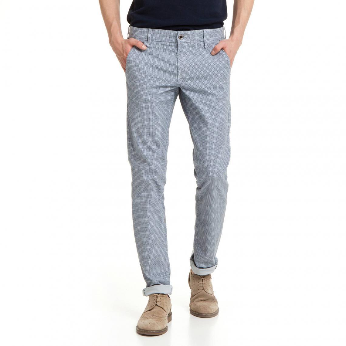 1dce70a8eca60 Pantalon skinny imprimé graphique homme Myron Guess - Bleu Marine Guess  Homme