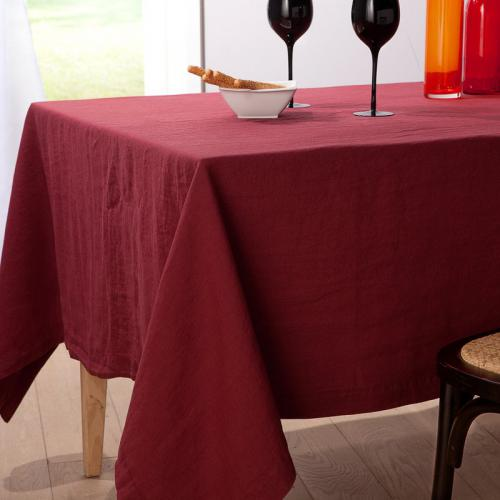 Harmony - Nappe pur lin lavé stone washed Naïs HARMONY - Rouge - Toutes Les Promos