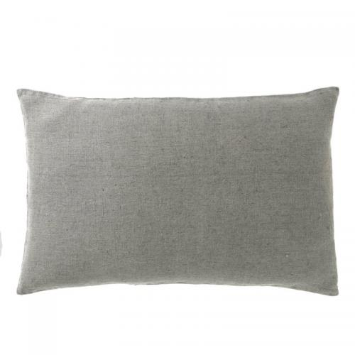 Housse de coussin lin lavé stone wash Propriano Harmony - Gris Harmony