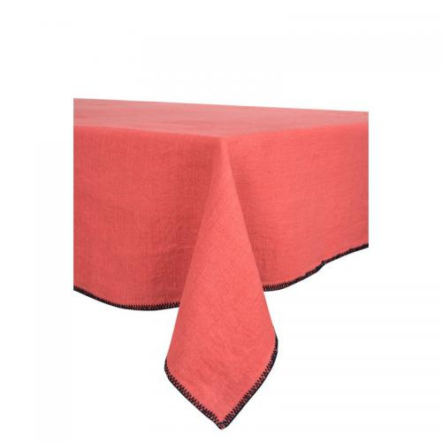 Harmony - Nappe unie lin lavé stone wash Letia Harmony - Orange - Linge de table
