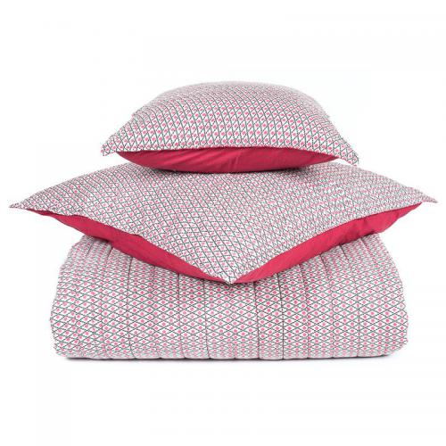 Harmony - Plaid courte pointe coton imprimé Timiki Harmony - Rose - Plaid
