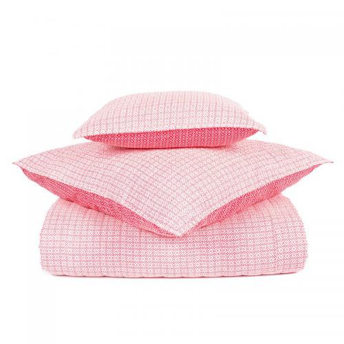 Harmony - Plaid courte pointe coton imprimé Zaio Harmony - Rose - Plaid