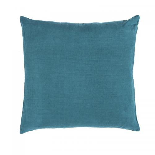 Harmony - Housse de coussin unie lin lavé stone wash Propriano Harmony - Vert Bouteille - Harmony